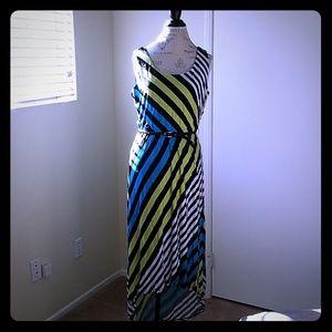 Summer hi/lo Jersey dress